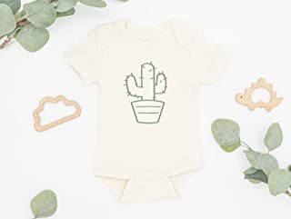 Cactus Baby Bodysuit, Newborn Gift, Infant Romper, Organic Cotton, One Piece Outfit, Baby Shower Gift, Coming Home Outfit, Eco Friendly