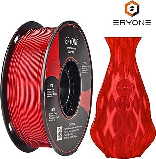Filamento PETG Transparente Red 1.75 mm, filamento ERYONE PETG para impresora 3D y lápiz 3D, 1 kg, 1 Spool …
