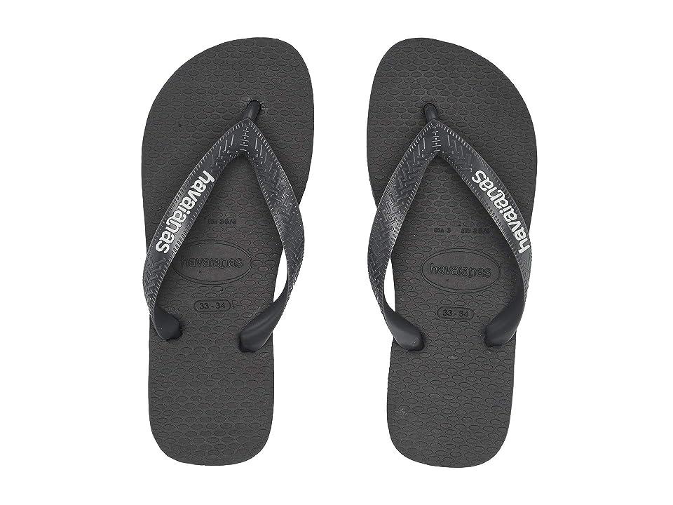 Havaianas Kids Logo Filete Flip-Flop (Toddler/Little Kid/Big Kid) (Graphite/White) Boys Shoes