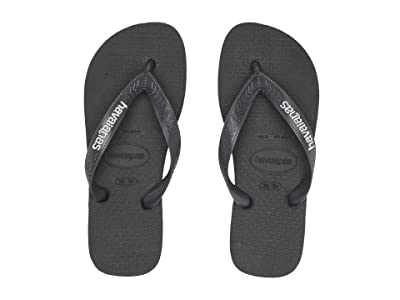 Havaianas Kids Logo Filete Flip-Flop (Toddler/Little Kid/Big Kid) (Graphite/White) Boys Shoes