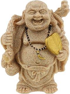 Resina Figura de arenisca de Buda para decoración, de la diosa Guanyin del Budismo, hecha a mano