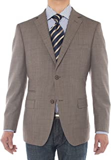 LN LUCIANO NATAZZI Mens Two Button 160'S Wool Blazer Ticket Pocket Suit Jacket