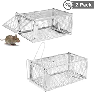 YISSVIC 11 Live Animal Trap 2 Pack 11x9.5x6 inches Catch Release Cage for, w
