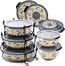 Temptation 18 Piece Ceramic Bakeware Set - Blue