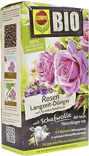 Compo BIO Rosen Langzeit-Dünger für alle Arten von Rosen, Blütensträucher sowie..