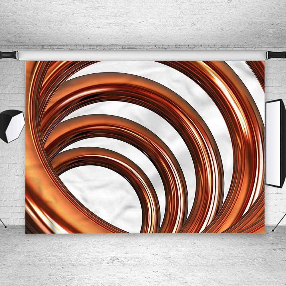 8x8FT Vinyl Backdrop Photographer,Abstract,Helix Coil Spiral Pipe Background for Baby Birthday Party Wedding Studio Props Photography