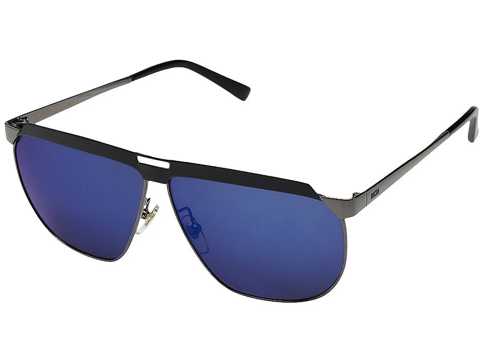 10260401ae2 MCM MCM113SM (Dark Ruthenium Blue Mirror) Fashion Sunglasses