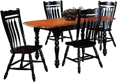 Amazon.com: Creque English - Juego de mesa de comedor (7 ...