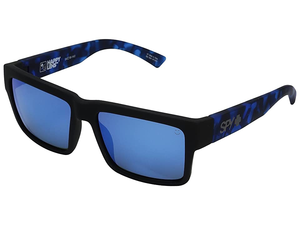 Spy Optic Montana (Soft Matte Black/Navy Tort/Happy Gray/Green/Dark Blue Spectra) Plastic Frame Sport Sunglasses