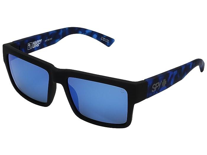 Spy Optic Montana (Soft Matte Black/Navy Tort/HD Plus Gray/Green/Dark Blue Spectra) Plastic Frame Sport Sunglasses