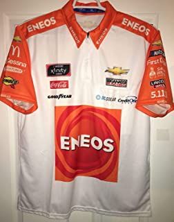 Medium SPARCO Kyle Larson Xfinity ENEOS Pit Crew Shirt Nascar Ganassi Racing 1/4 ZIP Jersey not Race Used