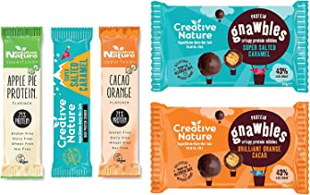 Creative Nature Vegan Protein Snack Box 2 2 x Protein Gnawbles 3 x Protein Bars Estimated Price : £ 15,00