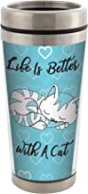 Life is Better With a Cat Stainless Steel 16 oz Travel Mug with Lid