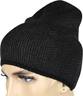 b00dfbee460a6 Gucci Unisex Black Beige Wool Cashmere Cotton Knit Beanie Hat with Logo  352350 1079