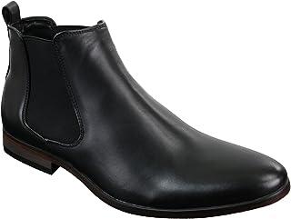 Bottines hommes italiennes cuir cheville sans lacets Smart décontracté Chelsea Dealer