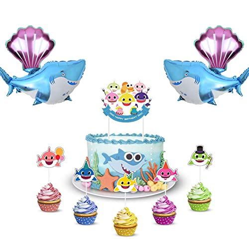 Baby Shark Party Decorations Amazon Com