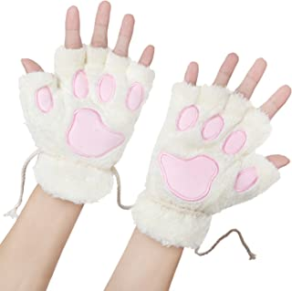 bear fur mittens