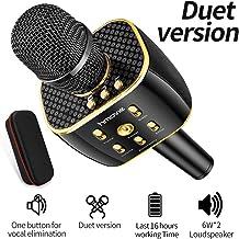 Dual Sing Duet Version Wireless Bluetooth Karaoke Microphone, Portable Handheld Karaoke..