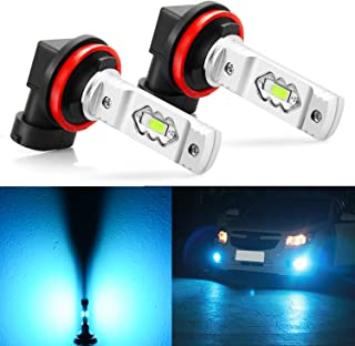 JDM ASTAR Extremely Bright 3600 Lumens High Power H11 H8 H16 LED Fog Light Bulbs for DRL or Fog Lights,Ice Blue