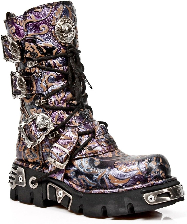 New Rock M.391 S5 Flower Lilac - Stiefel, Stiefel, Gotik - Unisex  günstig online