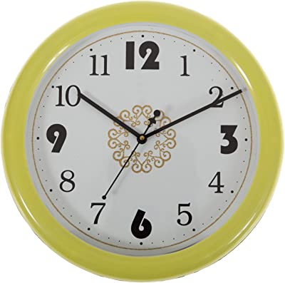 Smera Colorful Plastic Analog 30 cm X 30 cm Wall Clock for Home and Office
