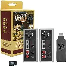 Waroom Mini Manette sans Fil NES Classic Rechargeable, Mini Console De Jeu Rétro avec 620 Jeux Intégrés Et 2 Contrôleurs -...