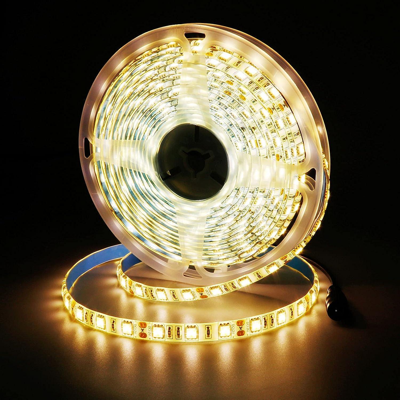 Tampa Mall JOYLIT 12V Warm White LED Strip 16.4ft IP Light 5050SMD Lowest price challenge 300LEDs