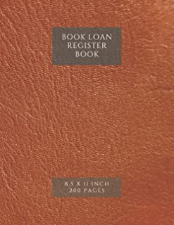 BOOK LOAN REGISTER BOOK: LIBRARY BOOK MAINTAINANCE RECORD BOOK/BOOK CATALOGUING/LIBRARY BOOK LOAN LOGBOOK/BOOK STOCK RECOR...