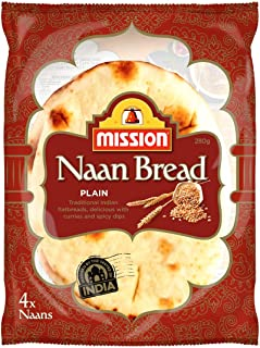 Mission Naan Bread, Plain, 4 Naans, 280g