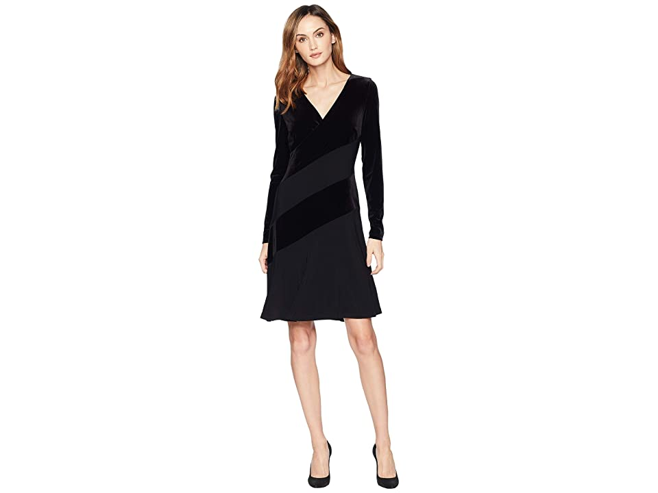 LAUREN Ralph Lauren Elvarina Dress (Black/Black) Women