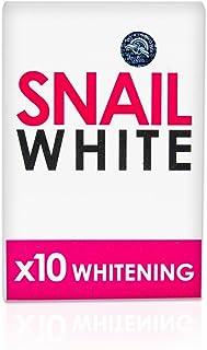 Snail White Soap 10x Whitening Power 70g.,dark Spots Damage Skin Face & Body.(Good Services) by Snail
