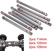 8PCS Alloy Upper & Lower Rod Link Linkage for 1/10 RC Axial SCX10 313mm Wheelbase