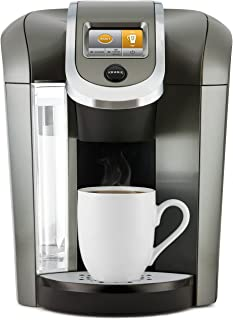 Keurig K575 Single Serve K-Cup Pod Coffee Maker with 12oz Brew Size, Strength Control, and Hot Water on Demand, Programmable, Platinum