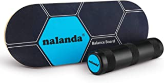 NALANDA Balance Board Stability Trainer, Professional Roller Board with Anti-Slip Surface for Daily Exercise, Athletic Training and Board Sports