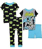 Batman Four-Piece Short Sleeve Cotton Set (Little Kids/Big Kids)