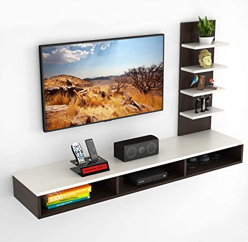 """BLUEWUD Primax Engineered Wood TV Entertainment Wall Unit/Set Top Box Stand for Living Room -Ideal for Upto 42"""" Tv (W..."""