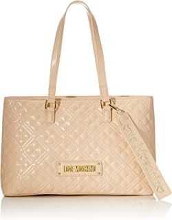 Love Moschino Women New Shiny Quilted Shopper Hand Bag (pack of 2)