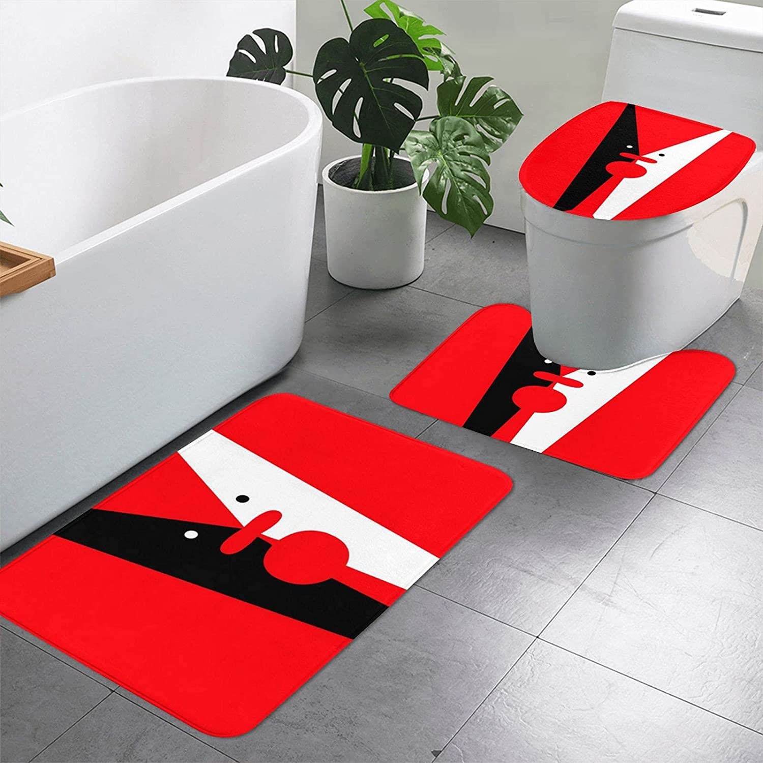 A Abstract Painting 3 Pieces Bathroom Mat Bath Rugs Set Very popular Slip Non 5% OFF