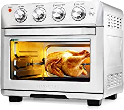 Ovente Stainless Steel Multi-Function Air Fryer Toaster Oven Combo 26 Quart with Accessories, 1700 Watt Countertop Rotisse...