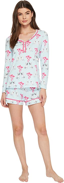 BedHead - Long Sleeve Sweetheart Two-Piece Shorts Set