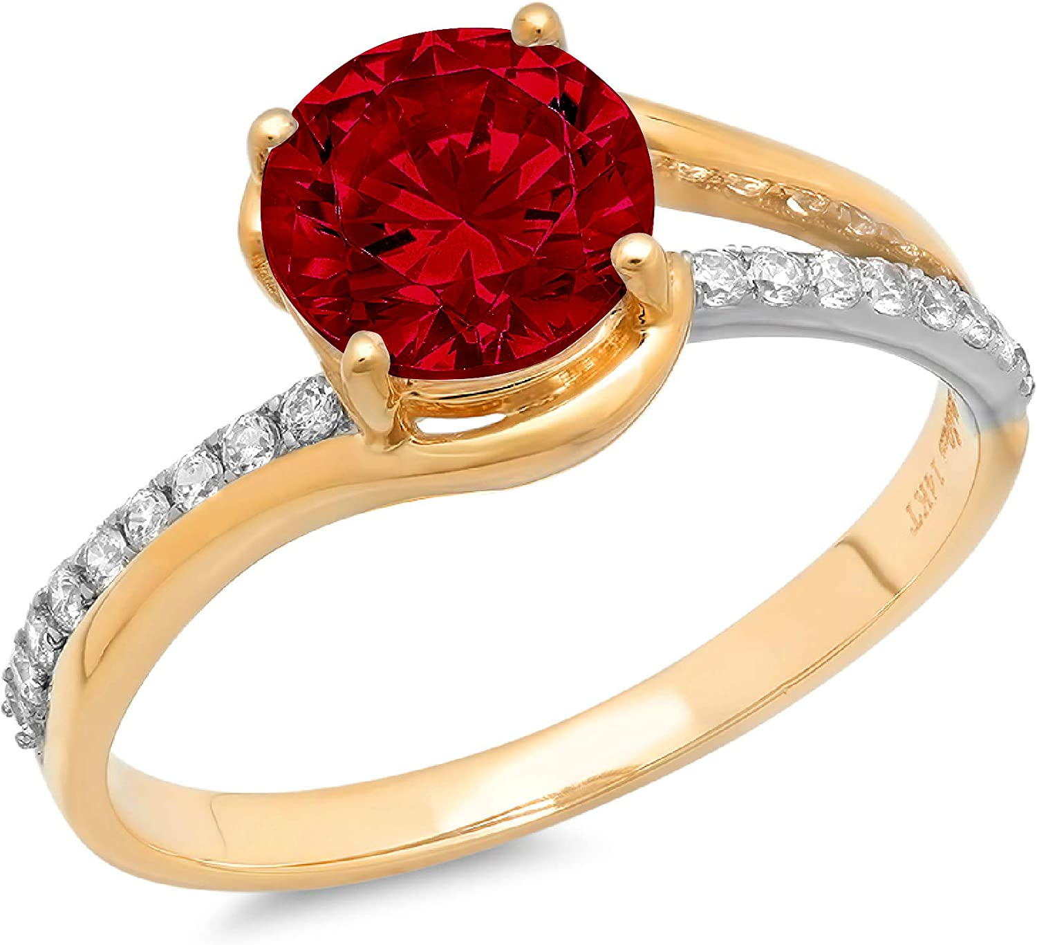 1.9ct Brilliant Round Cut Solitaire Al sold Seasonal Wrap Introduction out. G Garnet Scarlet Natural Red