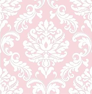 NuWallpaper Wall Pops NU1397 Pink Ariel Peel and Stick Peel & Stick Wallpaper