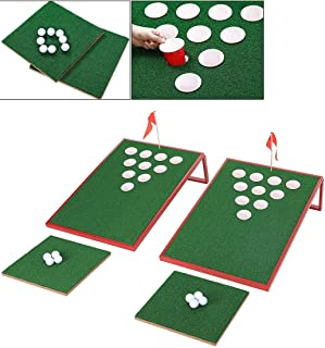 SPRAWL Golf Cornhole Game Set Chipping Boards Golf Sports Game Golf Chip Shot Practice Training for Indoor/Outdoor Ideas