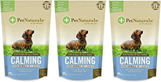 Pet Naturals of Vermont - Calming for Dogs, Natural Behavior Support Formula, 30 Bite-Sized Chews (3-Pack)