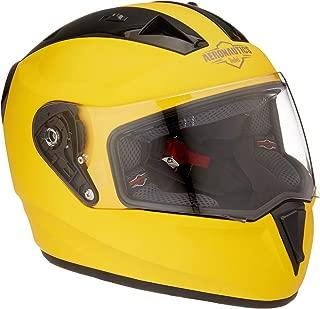 Steelbird SA-1 Aeronautics Full Face Helmet with Plain Visor (Matt Yellow, M)