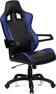 HjH GAME PRO I Silla de Oficina, Negro y Azul, 50.00x57.00x138.00 cm