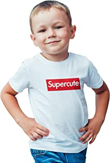 Baby & Me Toddler Supercute White Short-Sleeve T-Shirt Designer Inspired Boys Girls Kids Tee