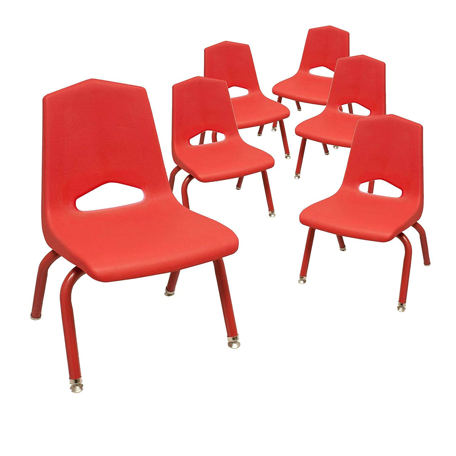 """Marco Group MG Series School Stack Chairs, 10"""", Red: Industrial & Scientific"""