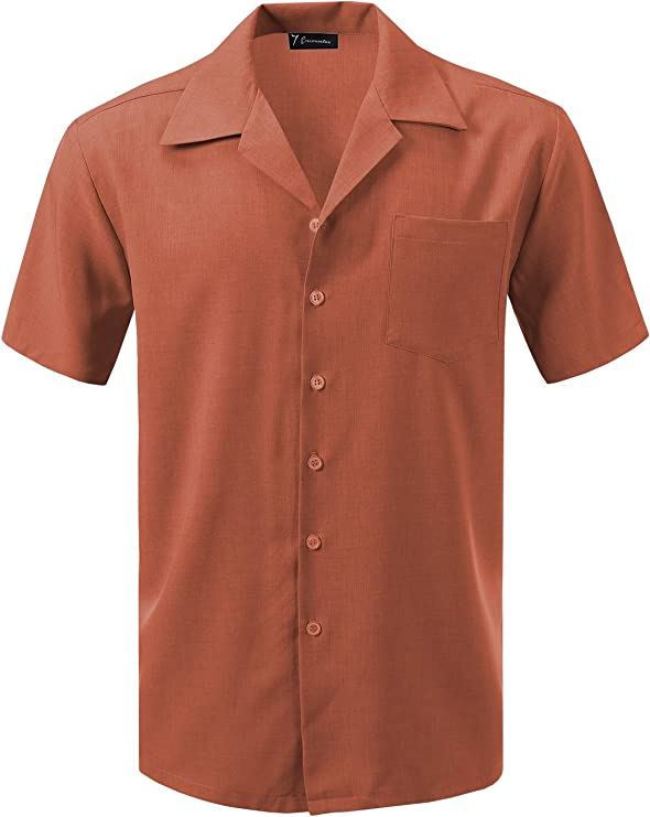 1940s Men's Fashion, Clothing Styles 7 Encounter Mens Camp Dress Shirt $29.99 AT vintagedancer.com
