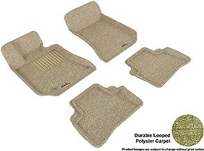 3D MAXpider L1MB05702202 Complete Set Custom Fit Floor Mat for Select Mercedes-Benz E-Class W212 Models - Classic Carpet (Tan)